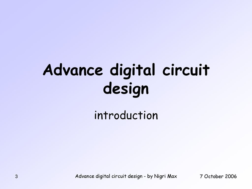 Advance Digital Circuit Design By Nigri Max Ppt Download Ping Pong