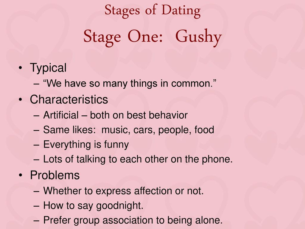 Stages of dating talking