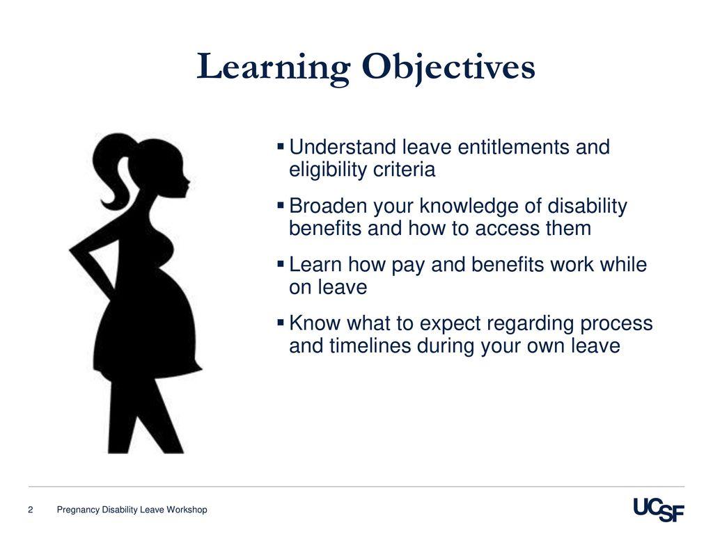 Pregnancy Disability Leave Workshop Ppt Download