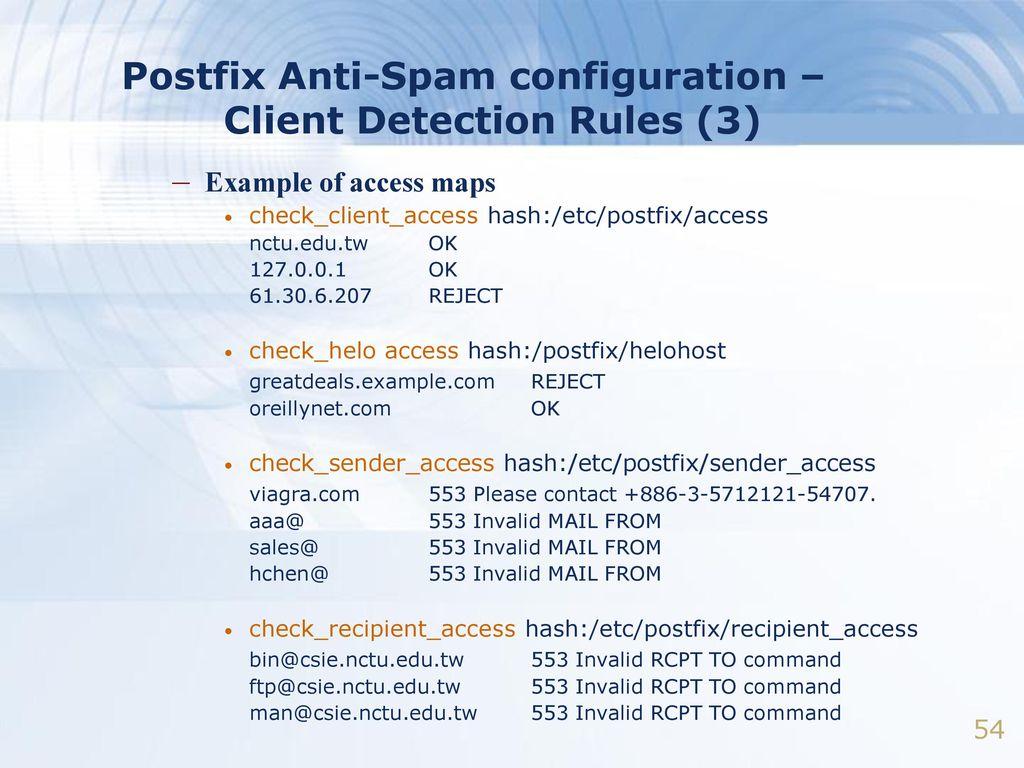 Postfix  - ppt download