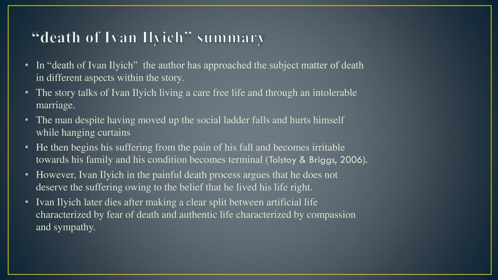 the death of ivan ilyich summary