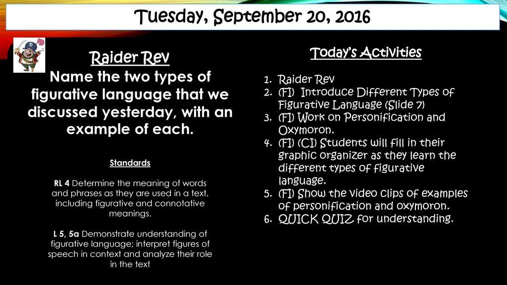 10th Grade Literature Lesson Plans September Ppt Download