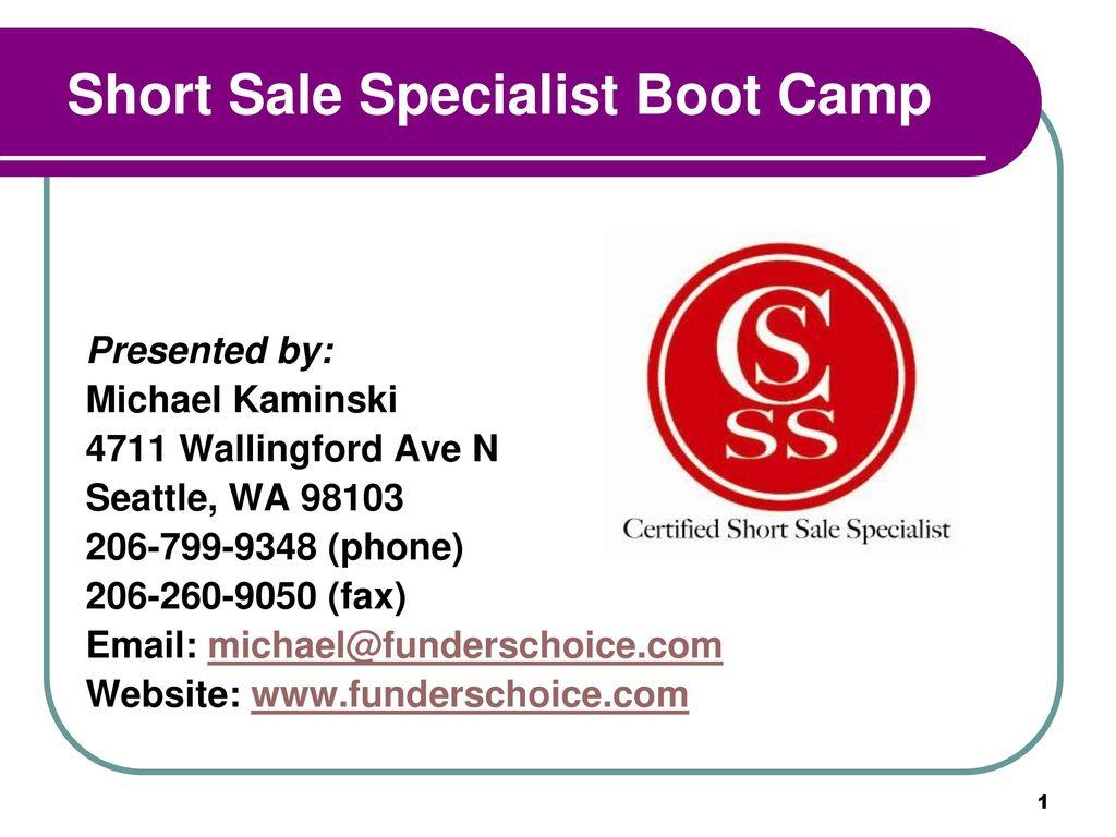 Worksheets Short Sale Financial Worksheet short sale specialist boot camp ppt download camp