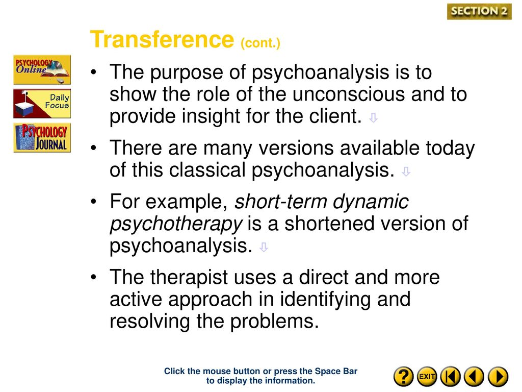transference psychology example