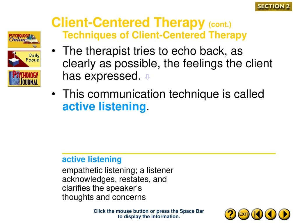 Technique and techniques of active listening. Psychology 13