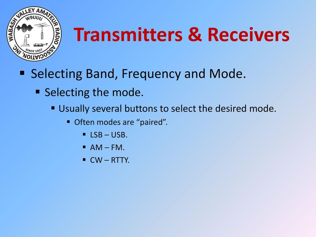 Am Cw Ham Bands Transmitter