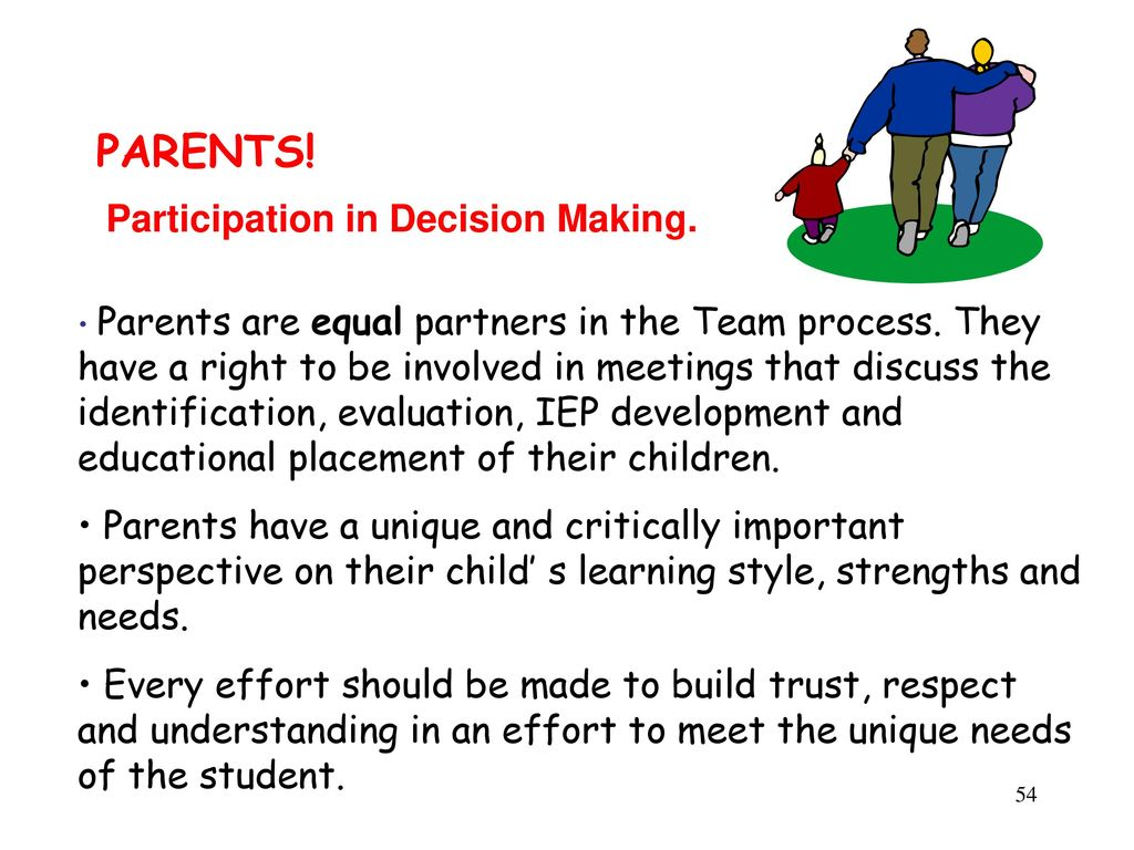 Parents As Equal Participants In Team >> Learn About Rights Responsibilities Idea Ppt Download