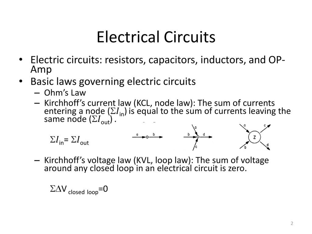Control Systems Ee 4314 Lecture 5 February 3 Ppt Download Simple Electric Circuits Electrical Circuit 2