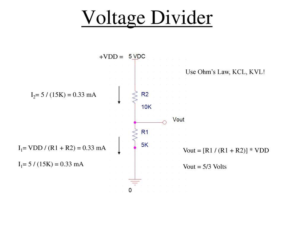 Introduction To Digital Electronics Ppt Download Voltage Divider Tutorials 6
