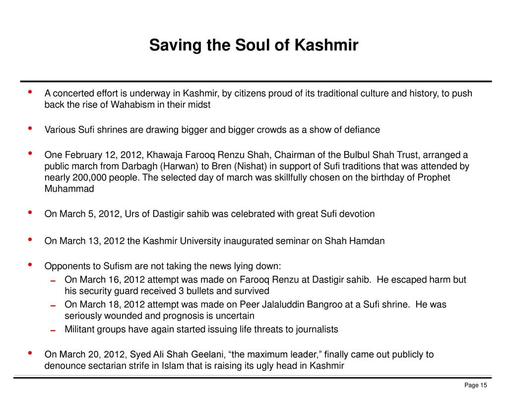Saving the Soul of Kashmir