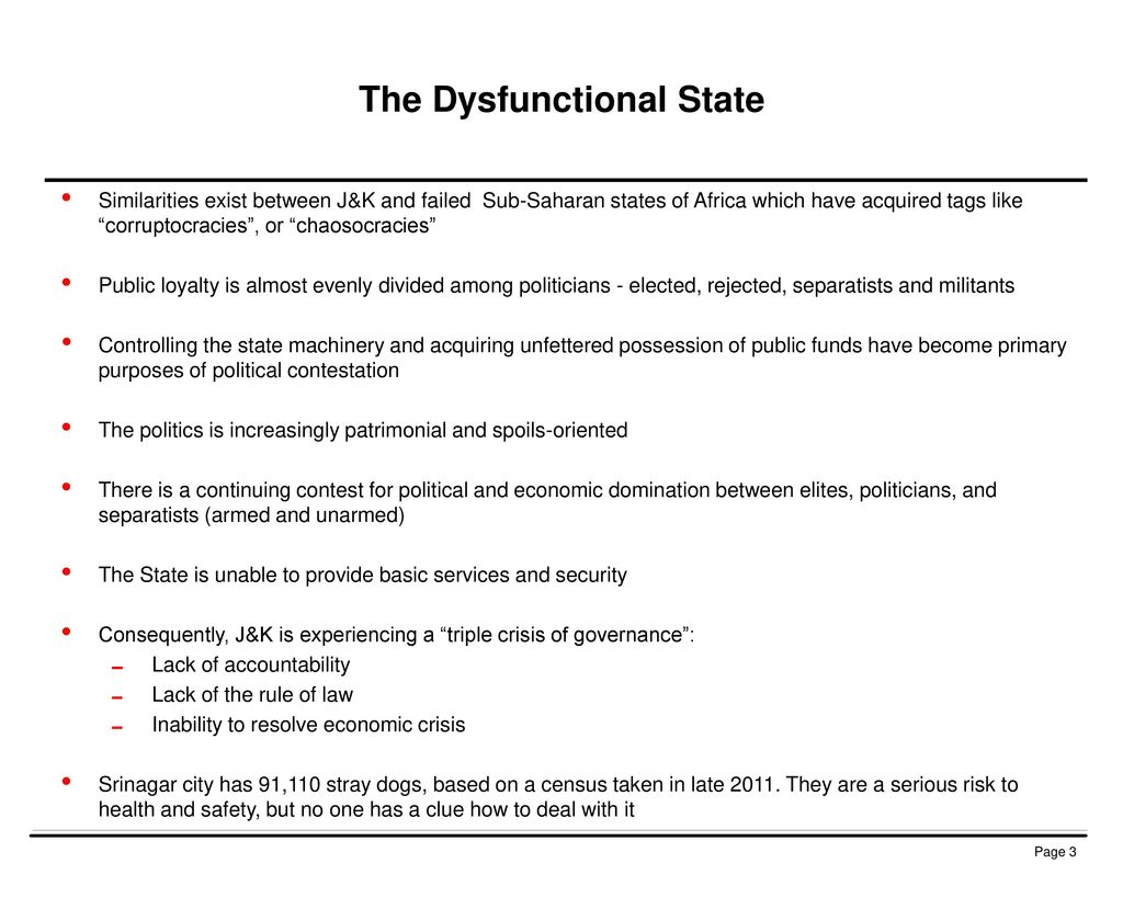 The Dysfunctional State