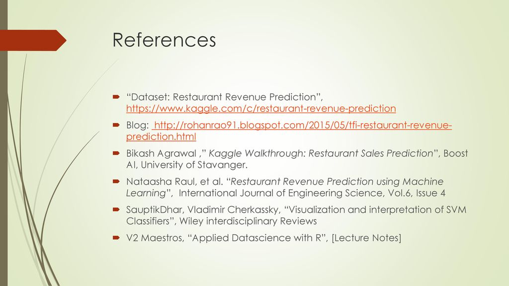 Restaurant Revenue Prediction using Machine Learning