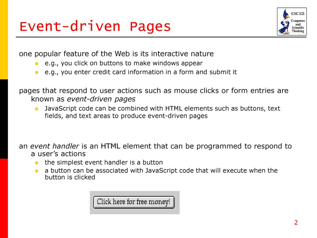 event driven programming forms