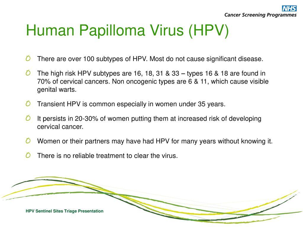 hpv diagnosis nhs după îndepărtarea consecințelor verucilor genitale