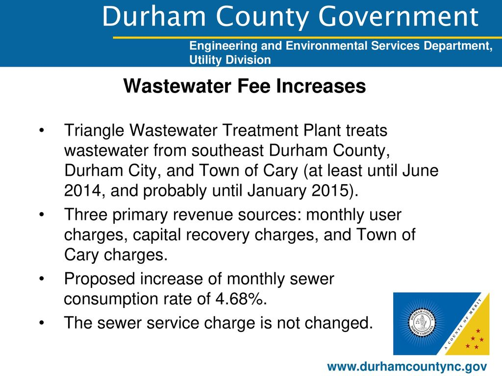Wastewater Fee Increases Ppt Download