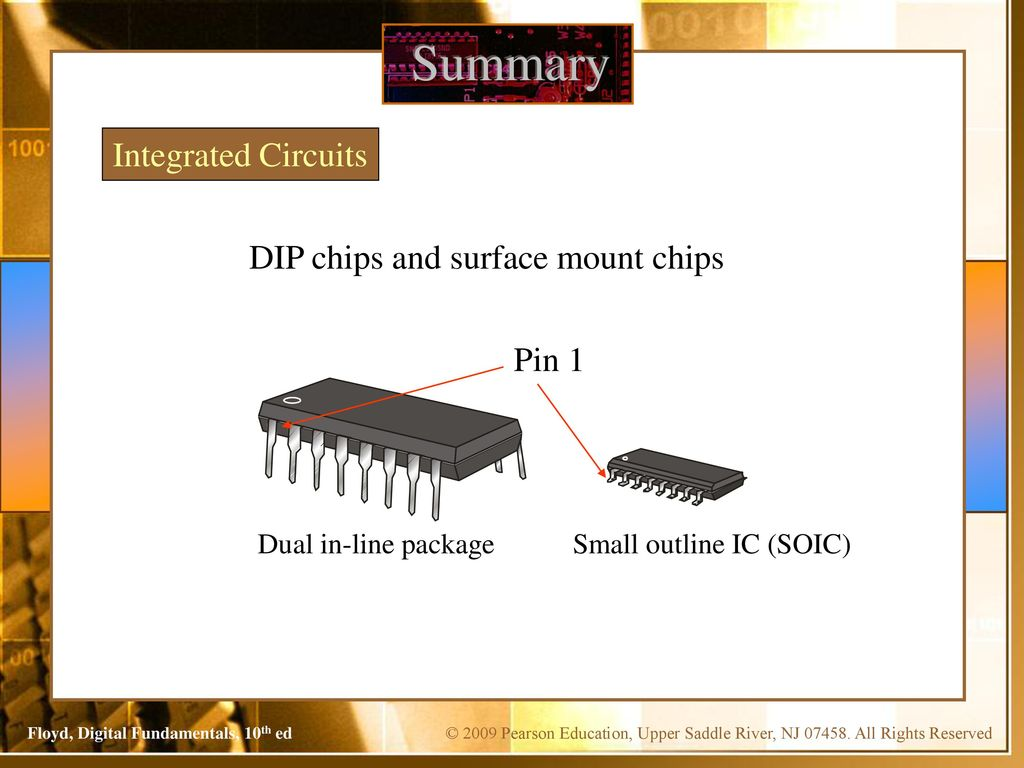 Ekt124 Digital Electronics 1 Introduction To Small Outline Integrated Circuit The Summary Circuits Dip Chips And Surface Mount Pin