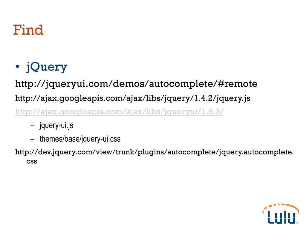 Implementing Autocomplete with Solr and jQuery - ppt download