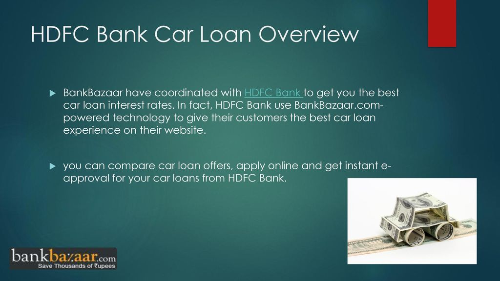 Hdfc Bank Car Loan Ppt Download