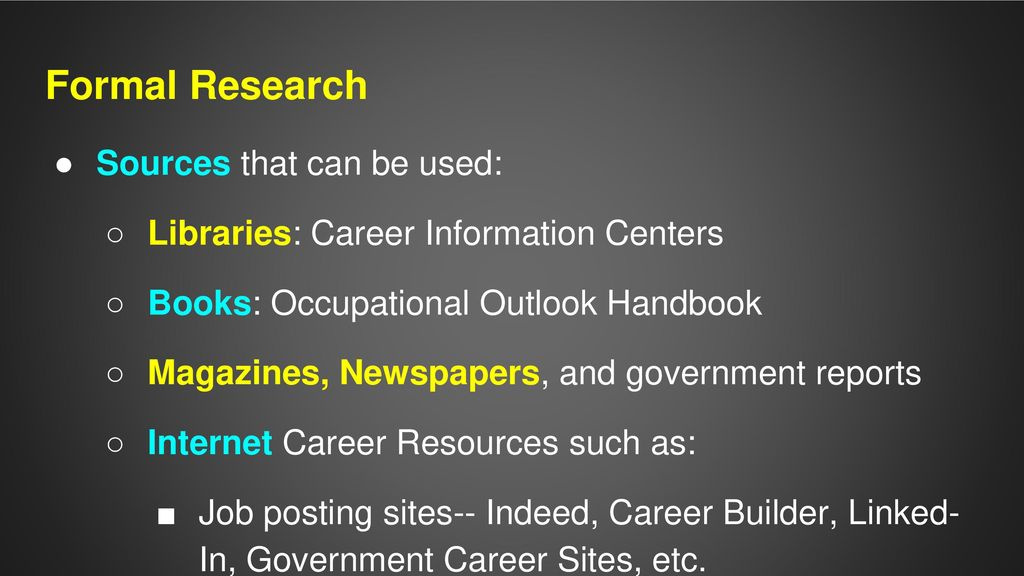 Chapter 3 Researching Careers Ppt Download
