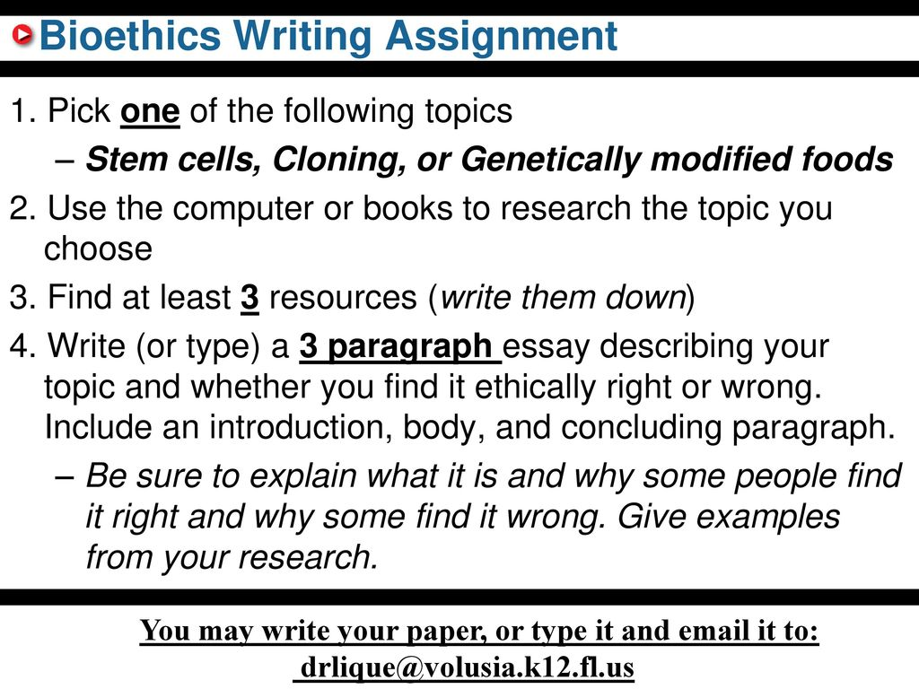 how to write a bioethics paper