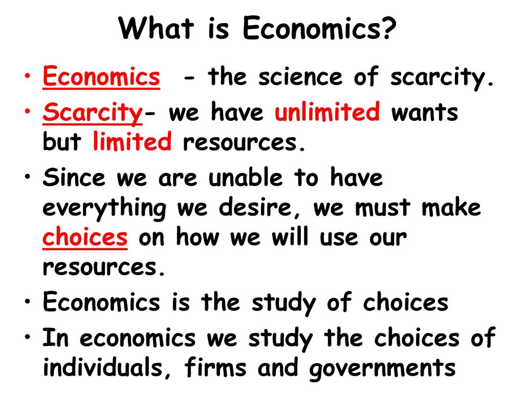 What is economics 79