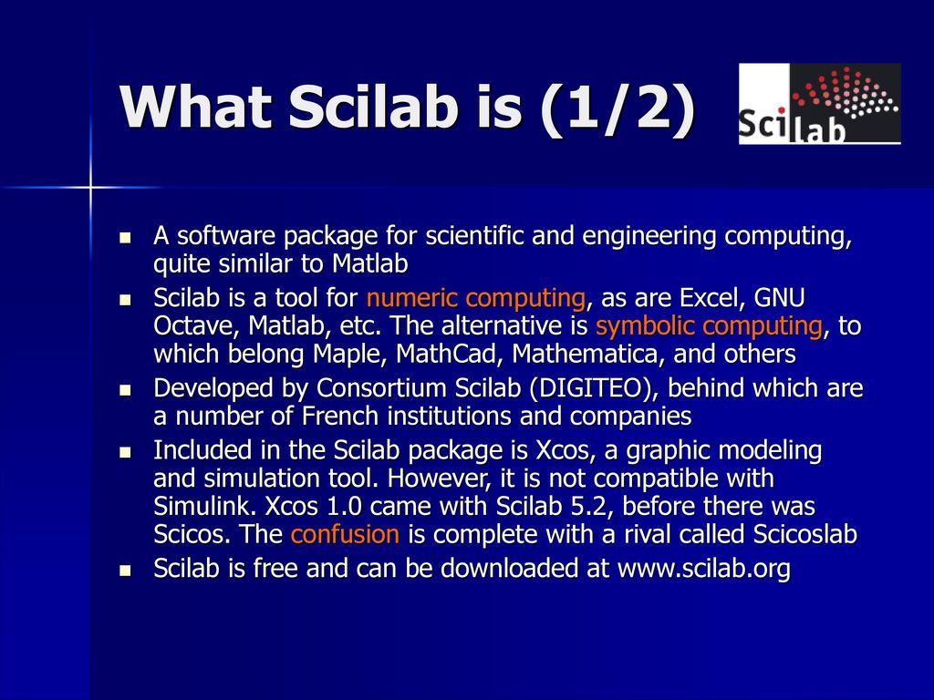 v1 0 / Scilab (5 3 3) Johnny Heikell - ppt download