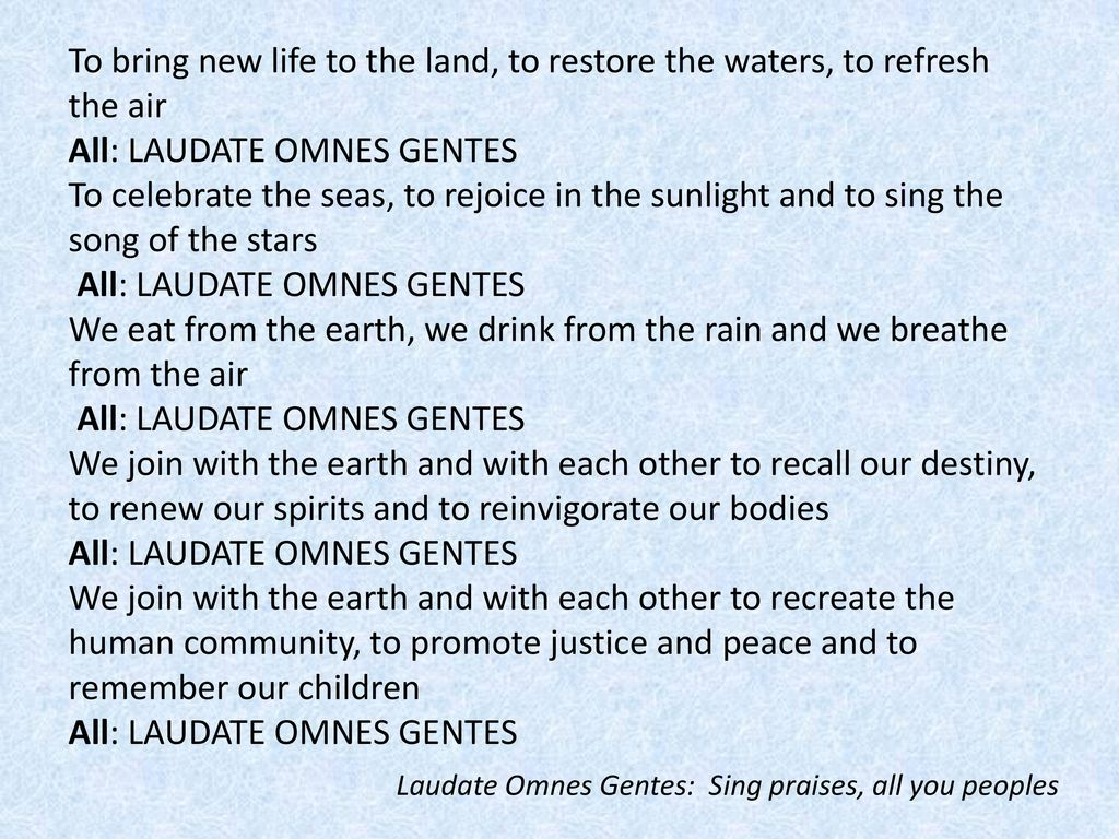 """Laudato Si', mi' Signore"""" – """"Praise be to you, my Lord"""