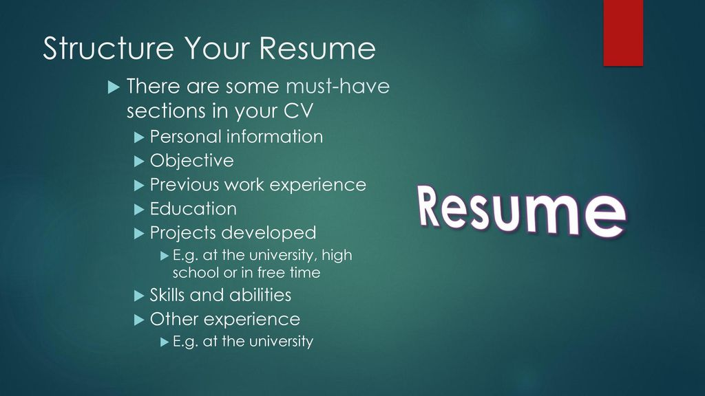 RESUME WRITING BY SYED OWAIS MUKHTAR. - ppt download