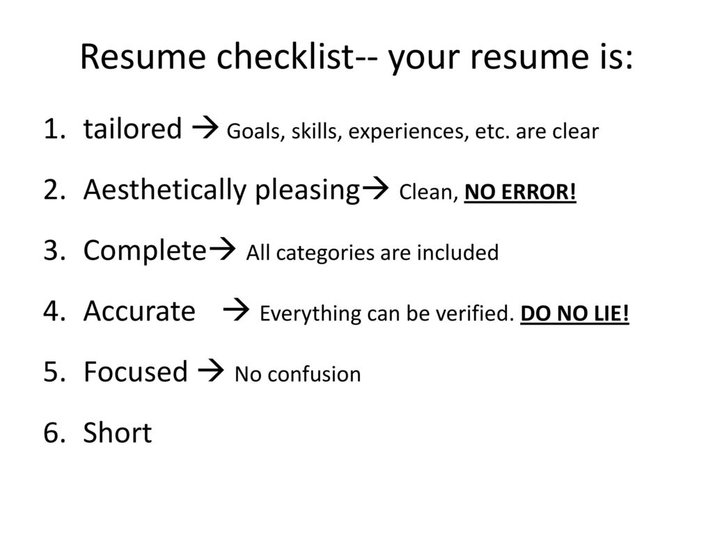 Resume The How To Guide Resume Ppt Download