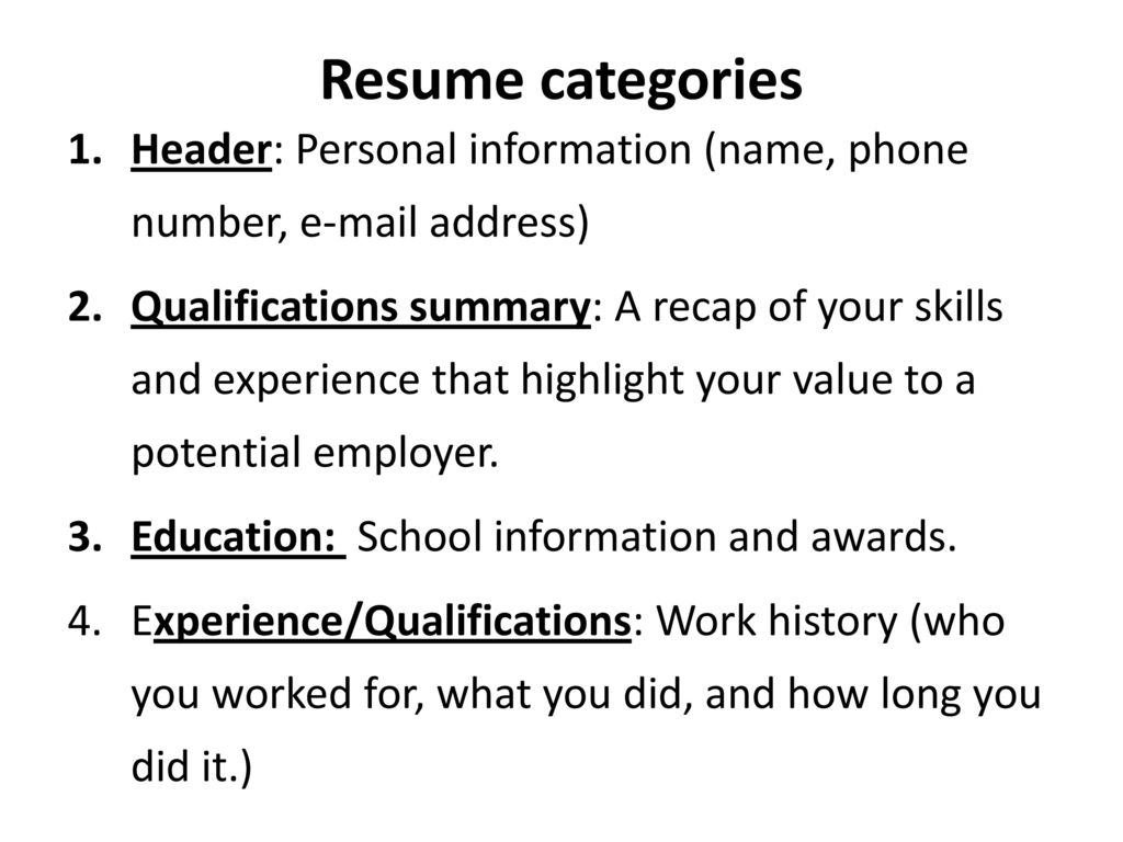 RESUME The How to Guide Resume. - ppt download
