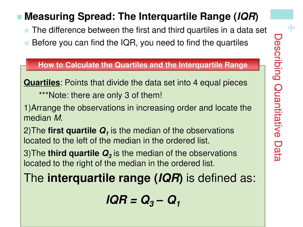 Describing Quantitative Data