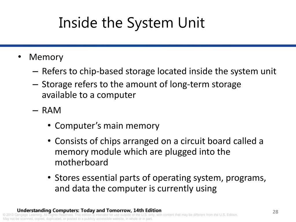 Inside The Computer Processing And Memory Ppt Download Ram Chips With Binary Code A Circuit Board System Unit