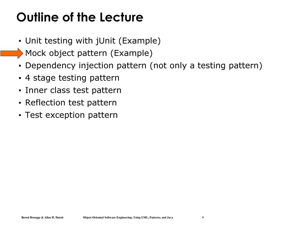 Chapter 11, Testing: Testing Patterns - ppt download