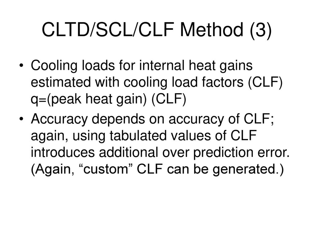 The Heat Balance Method - ppt download