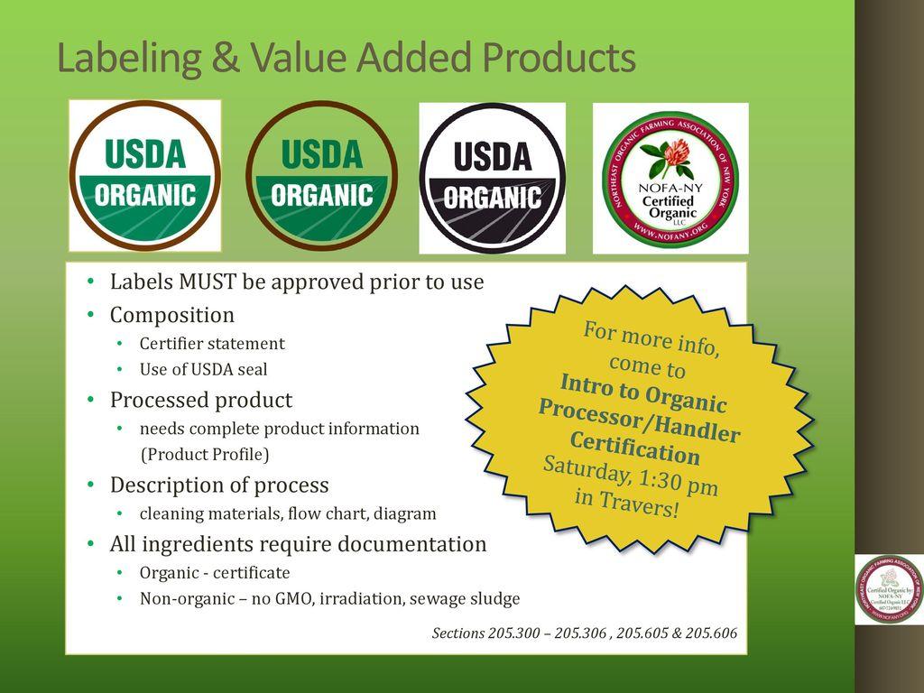 Organic Certification Workshop Ppt Download