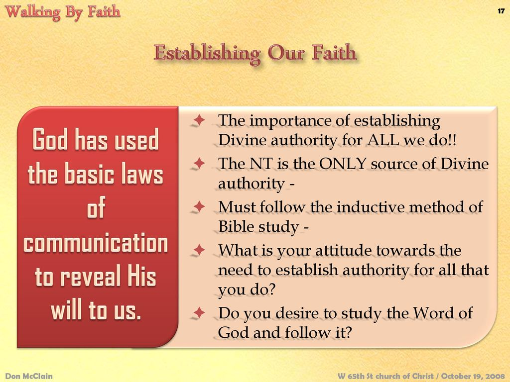 Walking By Faith 2 Corinthians 5:7 Don McClain - ppt download