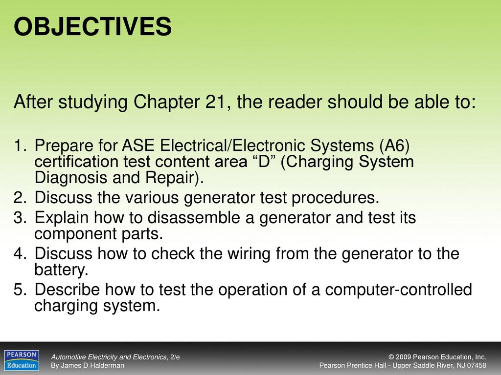 Objectives After Studying Chapter 21 The Reader Should Be Able To Ase Test Preparation Wires Connectors Wiring Diagrams