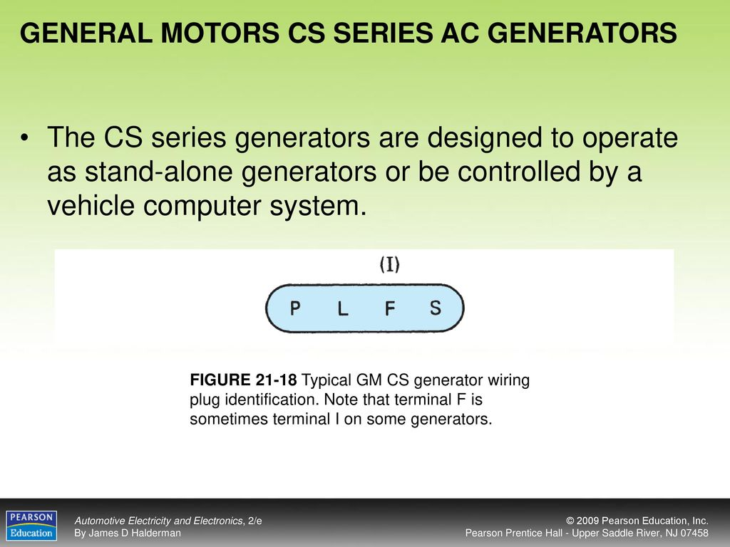 Objectives After Studying Chapter 21 The Reader Should Be Able To Gm Generator Wiring General Motors Cs Series Ac Generators