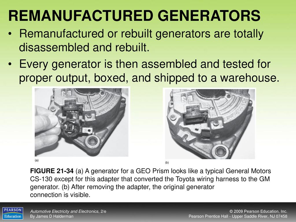 Objectives After Studying Chapter 21 The Reader Should Be Able To Gm Generator Wiring Remanufactured Generators