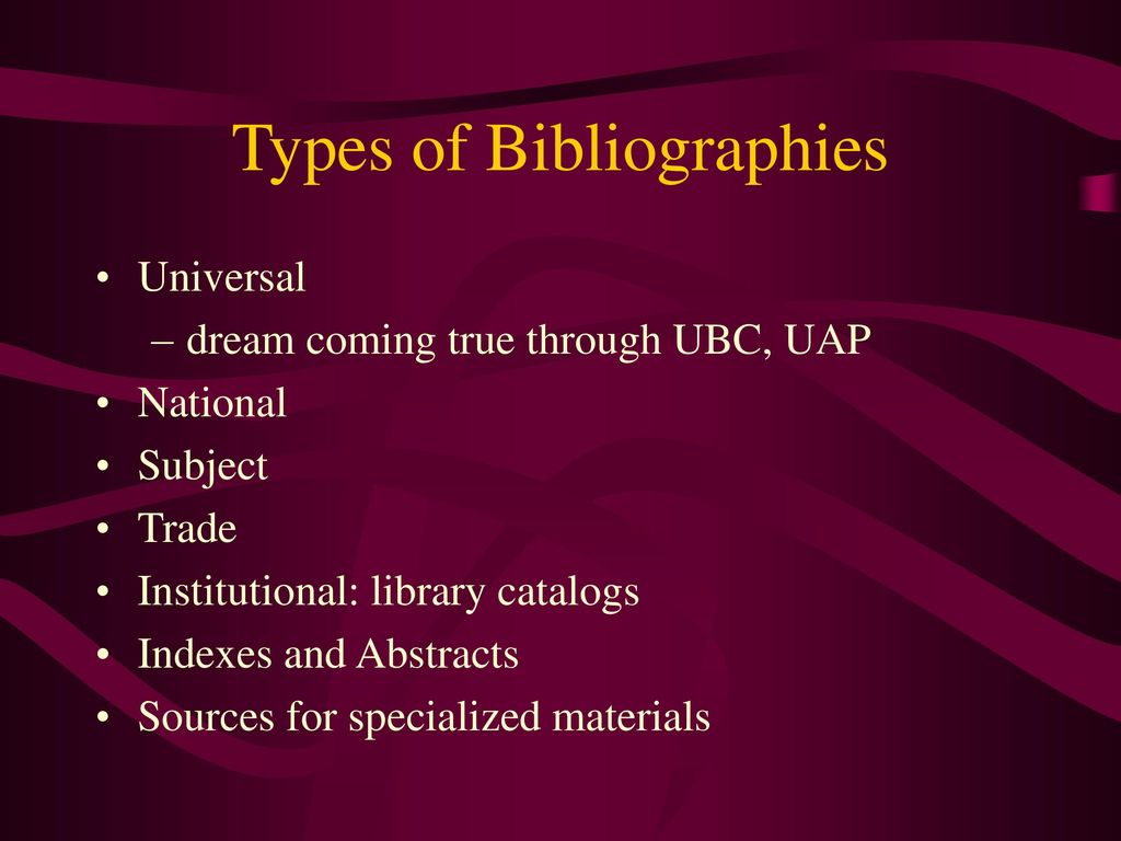 Types of bibliographies persuasive writing for homework