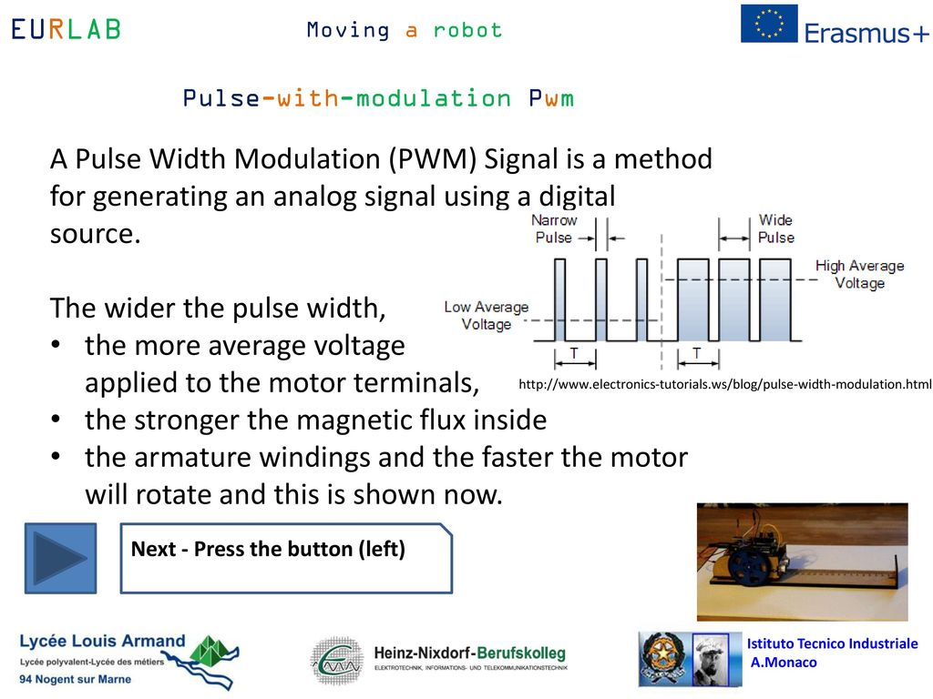 Simple Example Program To Control A Dc Motor Ppt Download Pulse Width Modulation The Wider