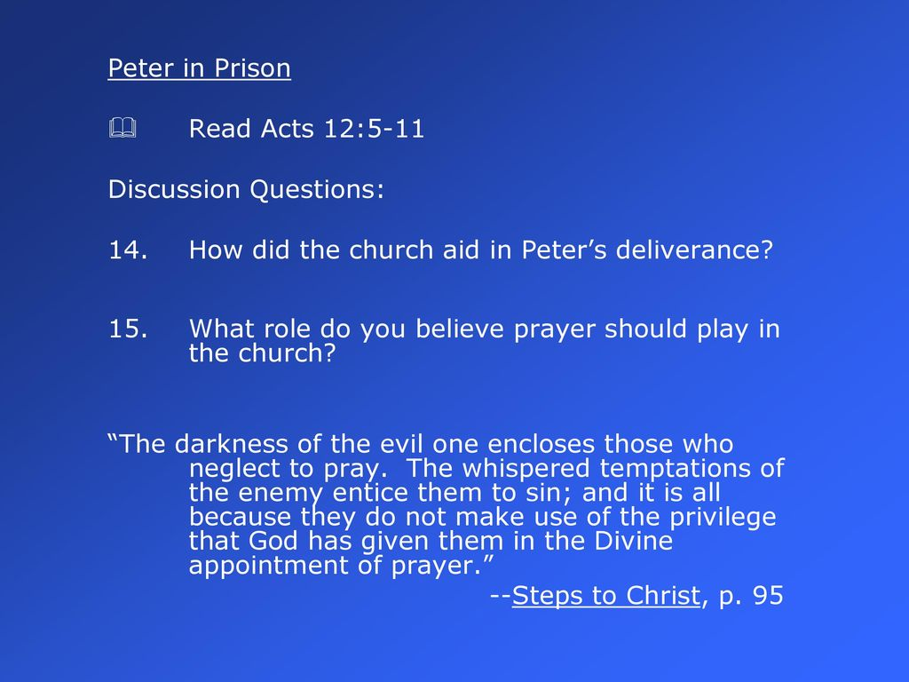 The Privilege of Prayer - ppt download
