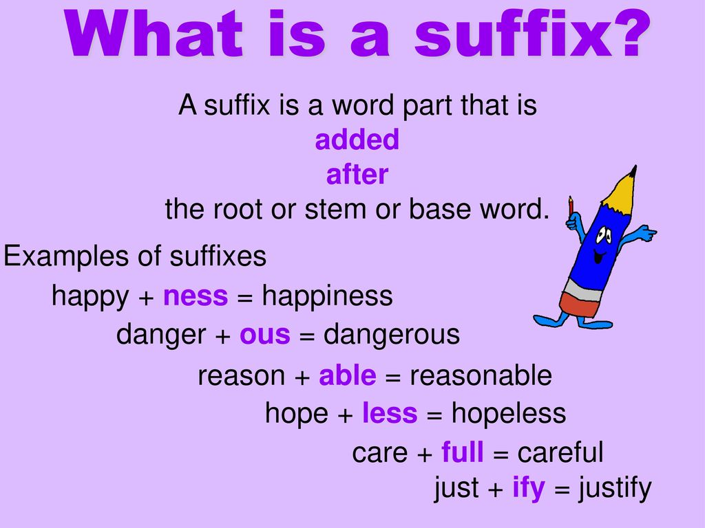 What is a suffix