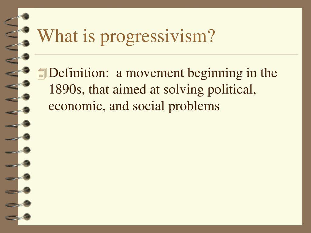 the progressive movement - ppt download