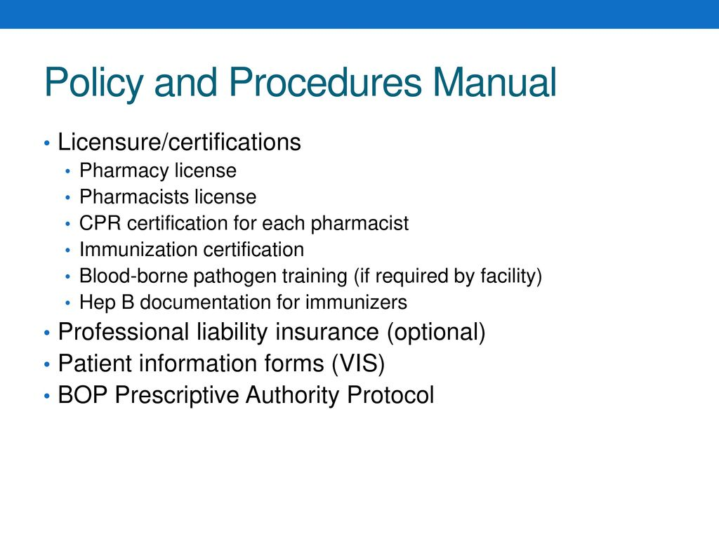 Nuts And Bolts Of A Pharmacy Based Immunization Clinic Ppt Download
