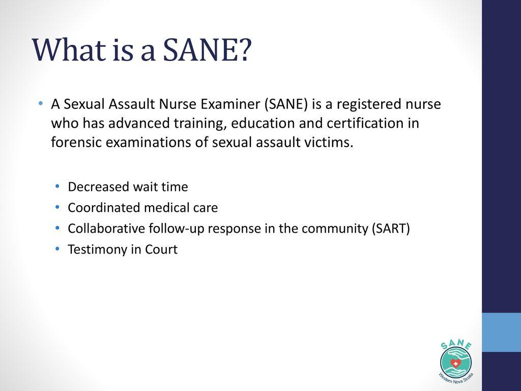 Sexual Assault Nurse Examiner Program Sane Ppt Download