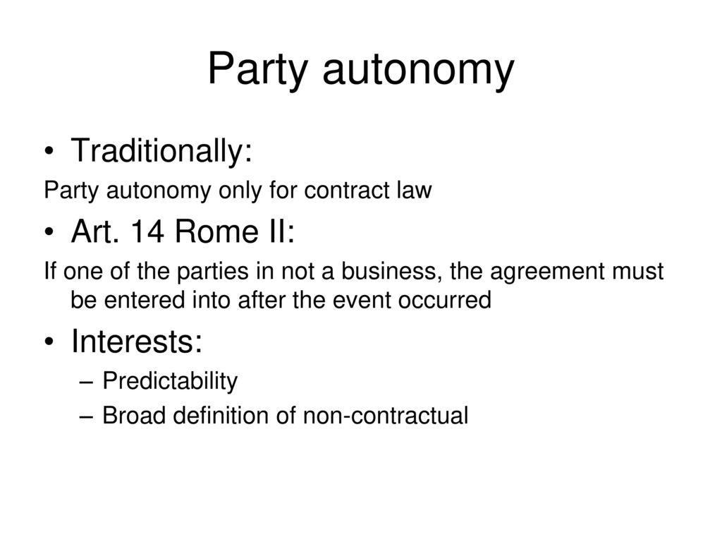 non contractual agreement