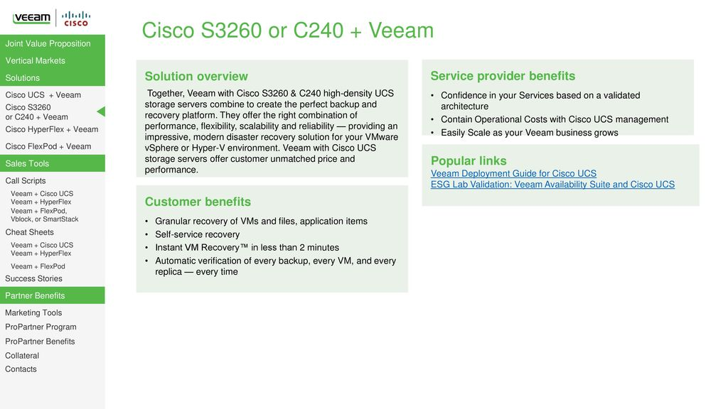 A Partner Playbook for Selling Veeam + Cisco - ppt download
