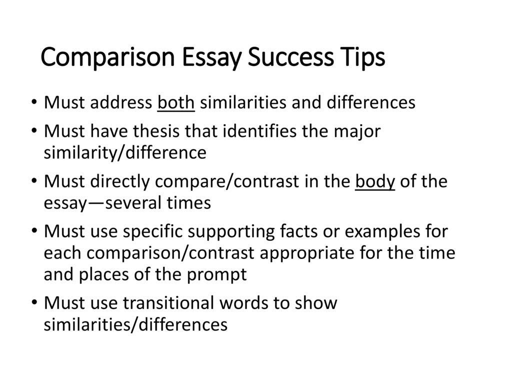 compare and comparison essay