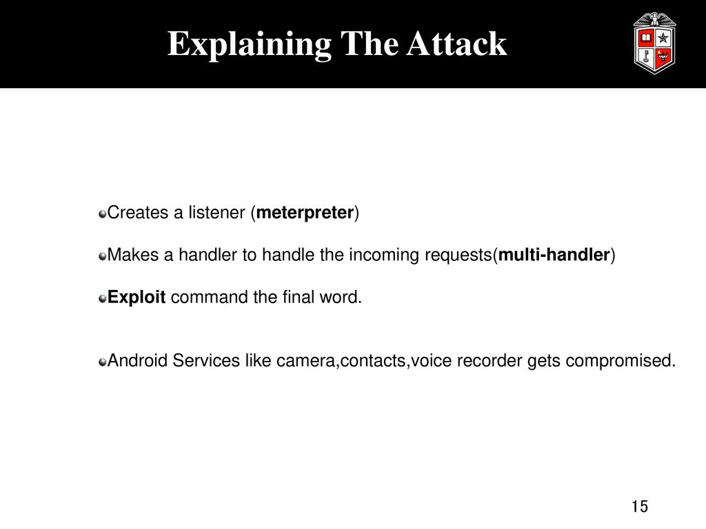 Penetration Testing: Concepts,Attacks and Defence Stratagies